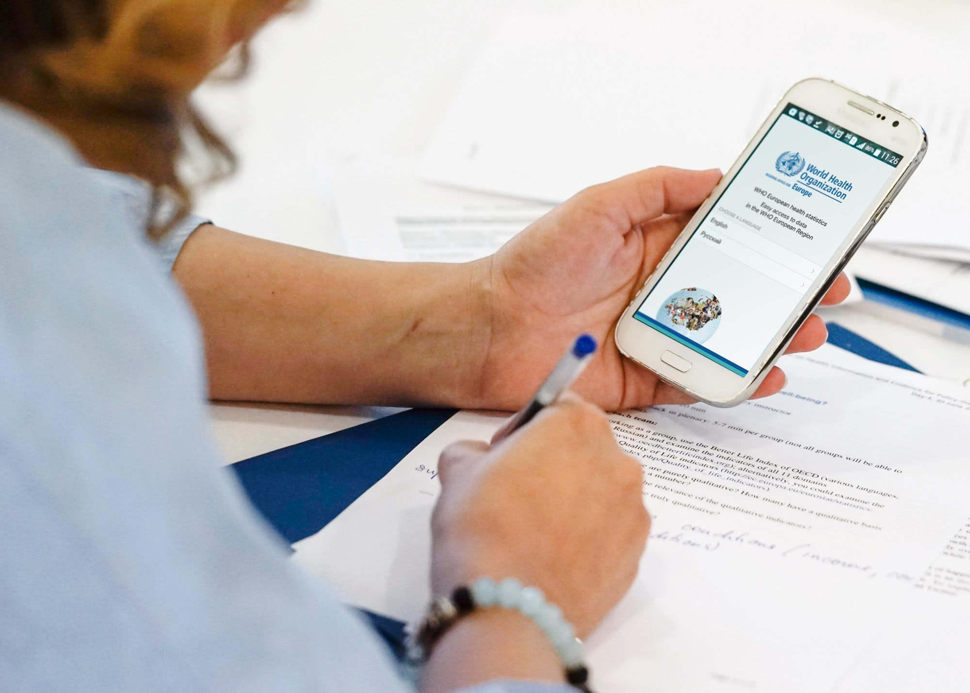 The WHO European Health Statistics mobile app