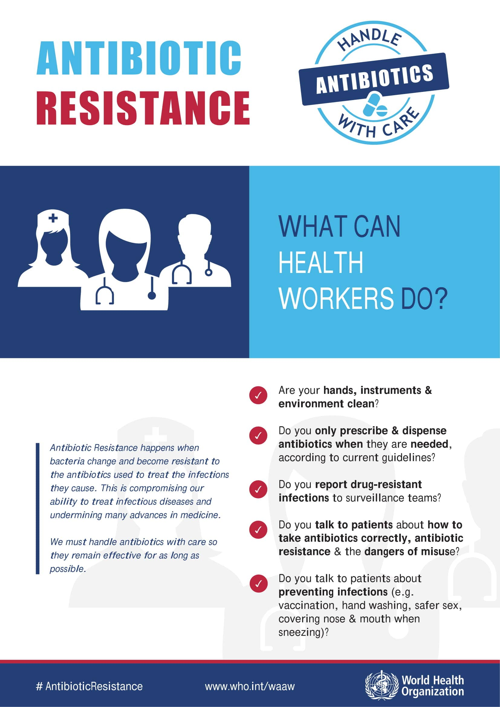 What can Health workers do?